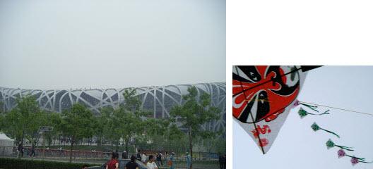 Birds Nest Stadium and Chinese Kite