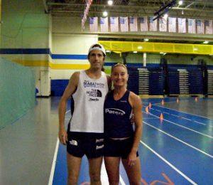 Michael Wardian and Brooke