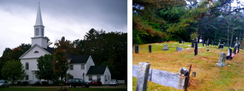 New England Church and Graveyard