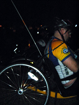 Hand cycle participant at race start
