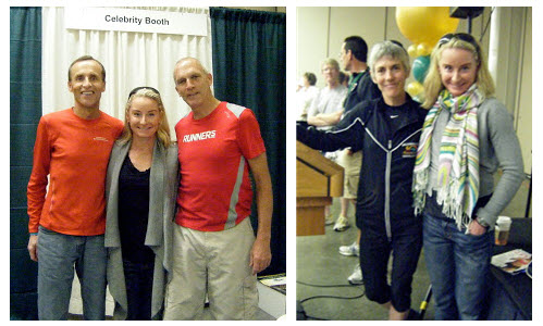 Brooke with Bart Yasso, Dick Beardsley and Joan Benoit Samuelson