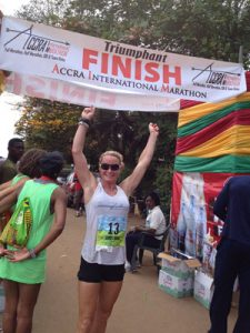 Acrra Ghana West Africa Race Finish