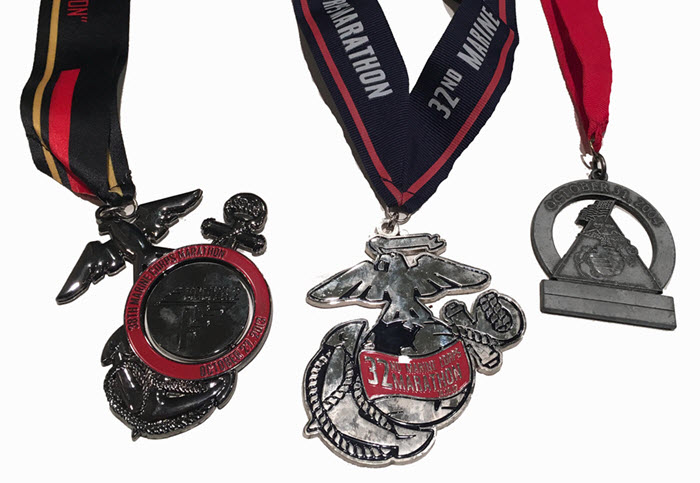 Marine Corps Marathon medals